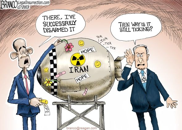 "A F Branco Cartoon ""Iran Nuclear Deal"""