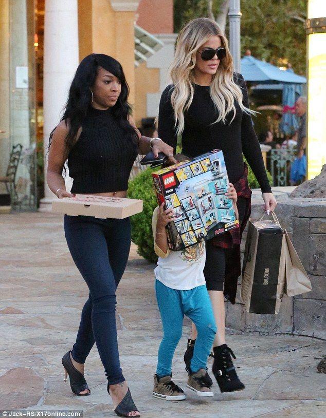 Khloe Kardashian spoils nephew Mason on shopping trip #dailymail