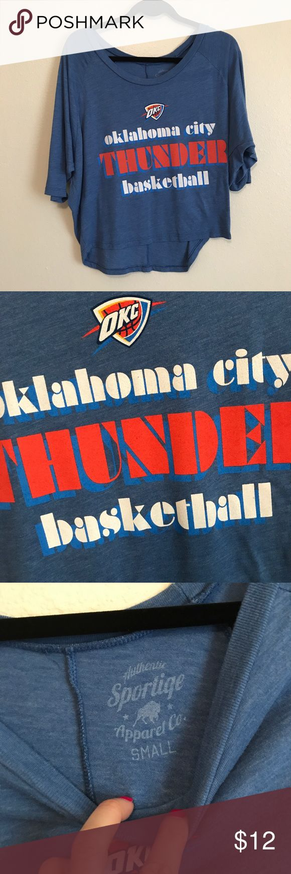 OKC Thunder Top OKC Thunder top. Purchased at a stand at one of their games. Only worn twice. Live in Texas now and never go to their games. Flows and soft material. Size S. Nike Tops Blouses