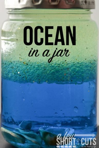 Have fun learning about the Ocean & more with this easy Ocean in A Jar Craft project.