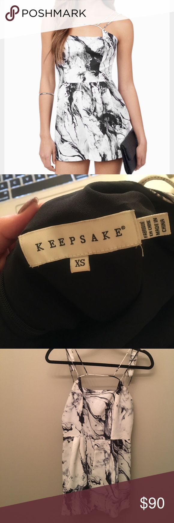 Keepsake Marble Romper Keepsake Marble Printed Romper KEEPSAKE the Label Dresses Mini