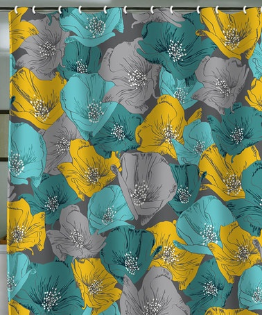 Deny Designs Teal Yellow Bryant Park Shower Curtain Parks Colors And Bathroom Colors