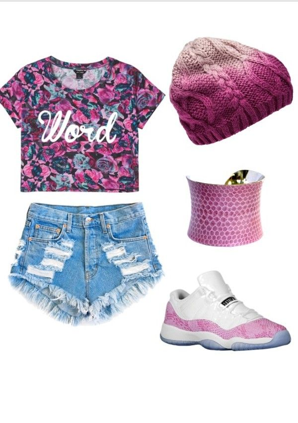 There are 13 tips to buy these shoes: high waisted shorts shorts beanie  snake skin print pink jordans cute outfits tumbrl outfits outfit shirt hat  blouse ...