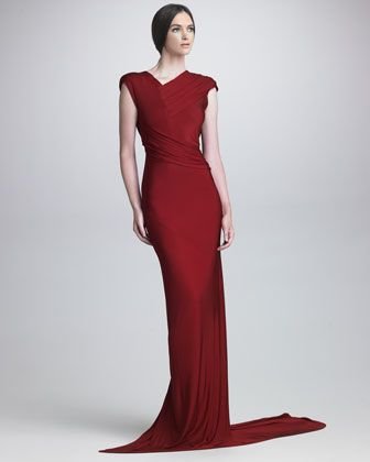 48 best cocktail dresses images on pinterest cocktail dresses draped luster jersey gown neiman marcus junglespirit Choice Image