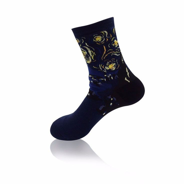 Women Oil Painting Cotton Socks Retro Harajuku Street Graffiti Personality Art Ankle Socks