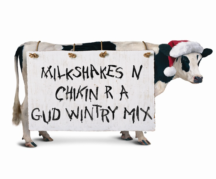 Chick Fil A Christmas Cow