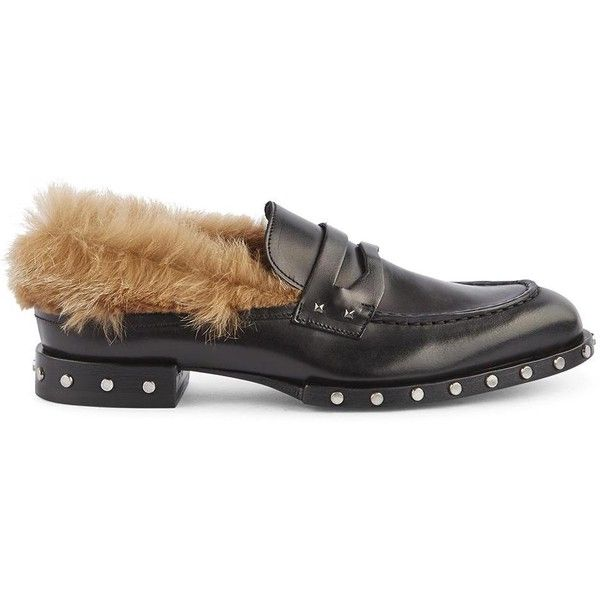 Mocassin Rock ($295) ❤ liked on Polyvore featuring shoes, loafers, nero, mocassin shoes, barracuda shoes, rock stud shoes, black studded shoes and studded moccasins