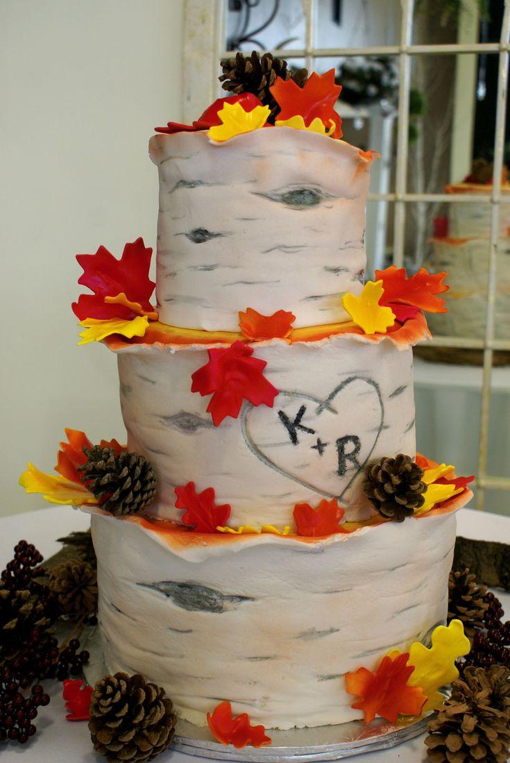 44 best Awesome Autumn Wedding Cakes images on Pinterest Autumn