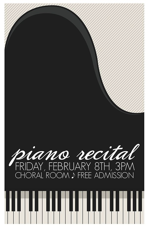 piano poster design - Google Search