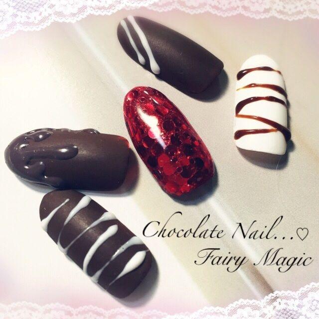 《バレンタイン当日にも◎》おしゃれ&可愛い『チョコレートネイル』15選♡ | GIRLY