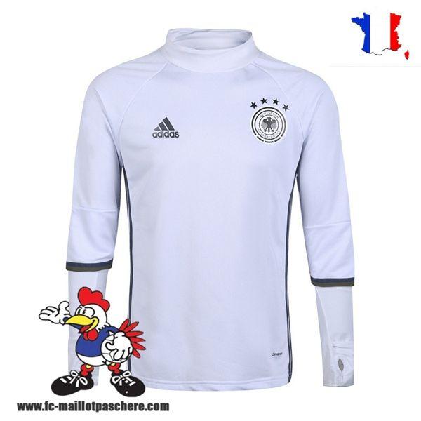 Promo Nouveau Homme Sweatshirt Training Allemagne Blanc Saison 16 17 Thailande