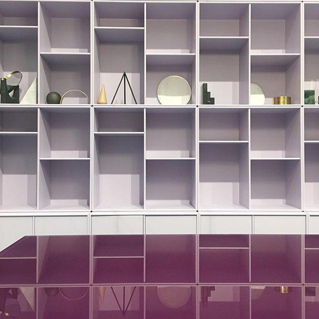 A sneak peek from Salone del Mobile. Do join us in hall 6, F38. Colours: Violetta and Montparnasse. #montanafurniture #danishdesign #salonedelmobile2017 #isaloni2017 #interiordesign #homedecor