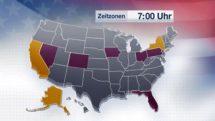 US-Wahl in sechs Zeitzonen: Wann ist wo mit ersten Zahlen zu rechnen?