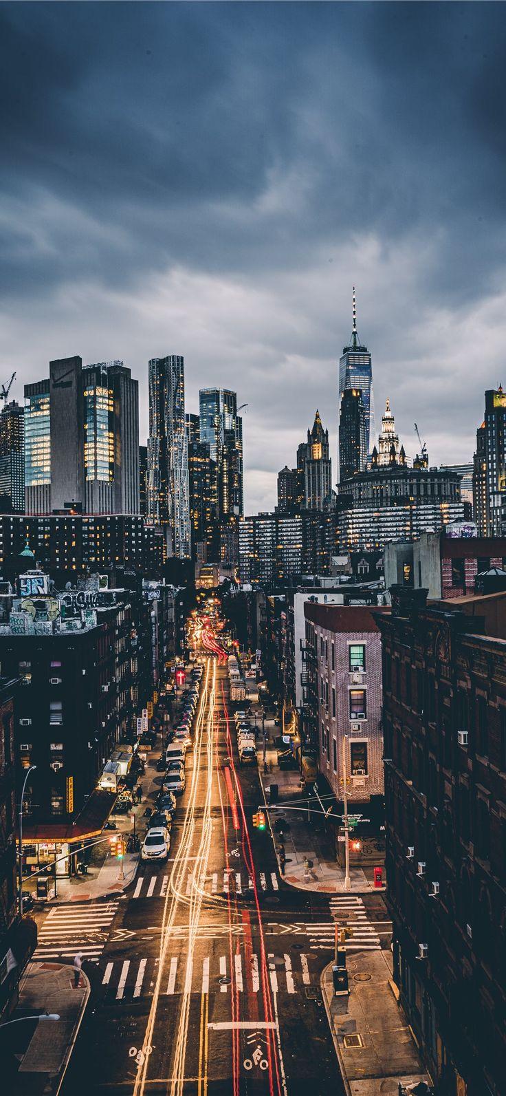 skyline city scenery iPhone 11 Wallpapers ในปี 2020 วอ