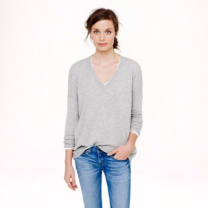 There's a Pinterest Sale: 25% off any order at jcrew.com for 48 hours with code SECRET.  Collection cashmere boyfriend sweater