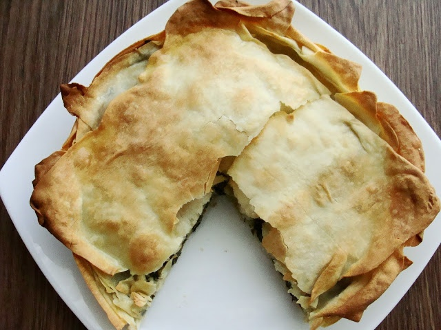 Ikaria...... Green Leaves Pie with a Home Made Phyllo Dough....