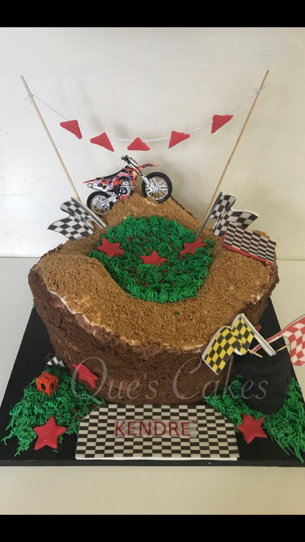 Dirt bike Birthday Cake. Buttercream cake
