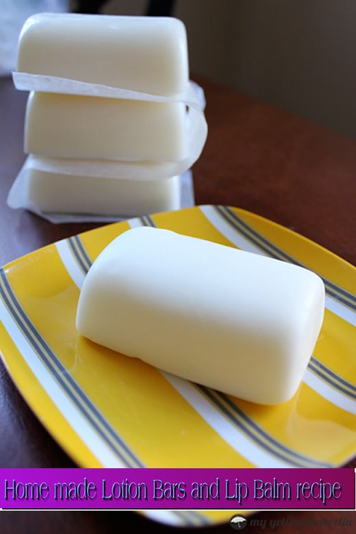 Home made Lotion Bars and Lip Balm recipe. I think I trust this recipe the most