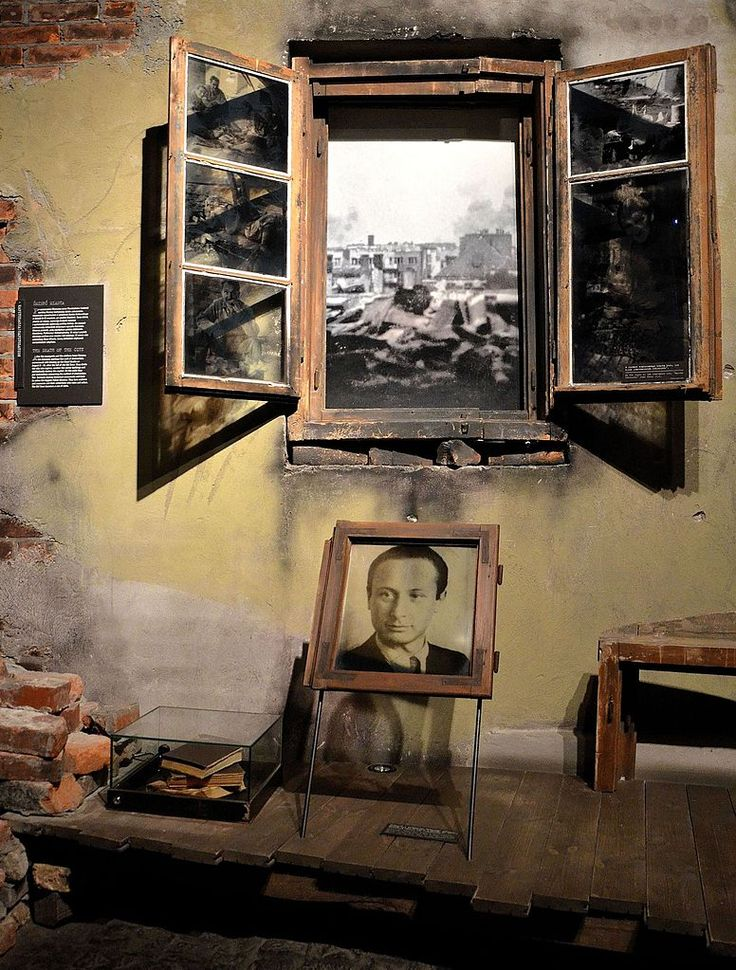 Władysław Szpilman's picture at the Warsaw Uprising Museum