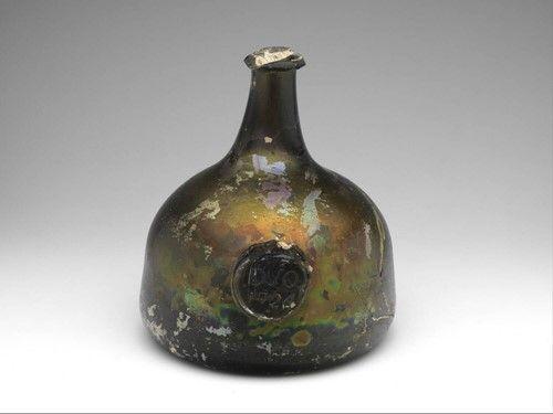 wine bottle, Anonymous, 1724   Museum Boijmans Van Beuningen