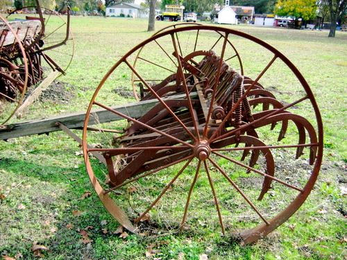 old farm equipment - cultivator - my Dad had one of these on our farm