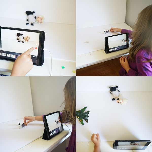 Stop motion with the students!!!!!!!!!! They'd flip!!! Now if I can just wrangle the Chromebooks from the classroom teacher :(  --- Easy Set-up for Stop Motion Animation with Kids | TinkerLab.com
