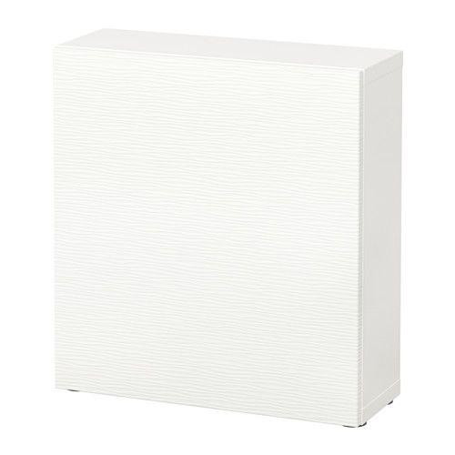 BESTÅ Shelf unit with door, Laxviken white Laxviken white 23 5/8x7 7/8x25 1/4, $93
