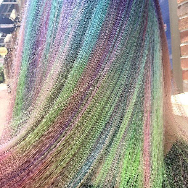 Sand Art Rainbow Hair Color | POPSUGAR Beauty http://www.popsugar.com/beauty/Sand-Art-Rainbow-Hair-Color