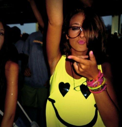 Love the smile neon shirt