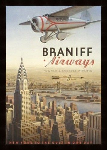 Braniff Airways Retro Poster | #aviation #vintage