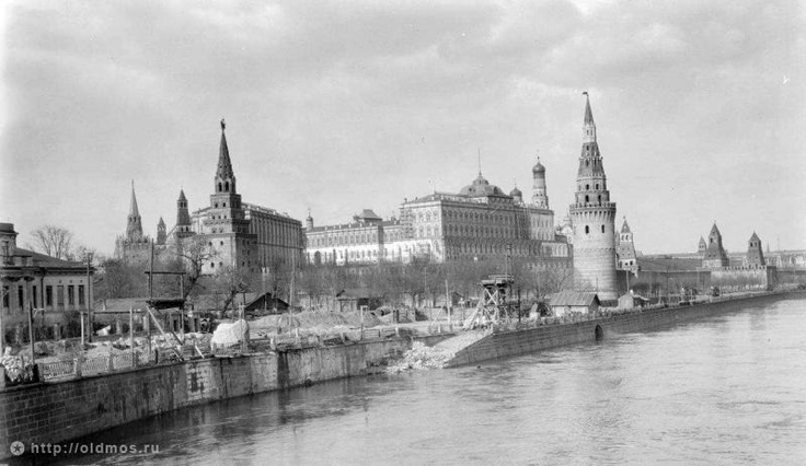 Фотография - Вид на Кремль от Большого Каменного моста - Фотографии старой Москвы