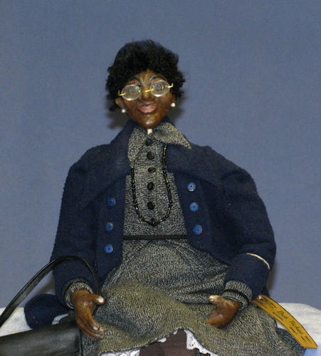 Black History Month Rosa Parks doll with a super low starting bid $35.00: Parks Dolls, Dolls Handmade