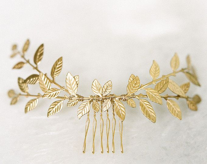 Grecian Hair Piece Bridal Hairpiece Gold