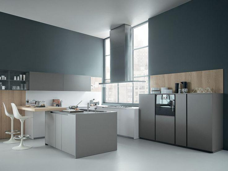 Oak kitchen with peninsula FIFTY Composition 01 by Zampieri Cucine design Stefano Cavazzana