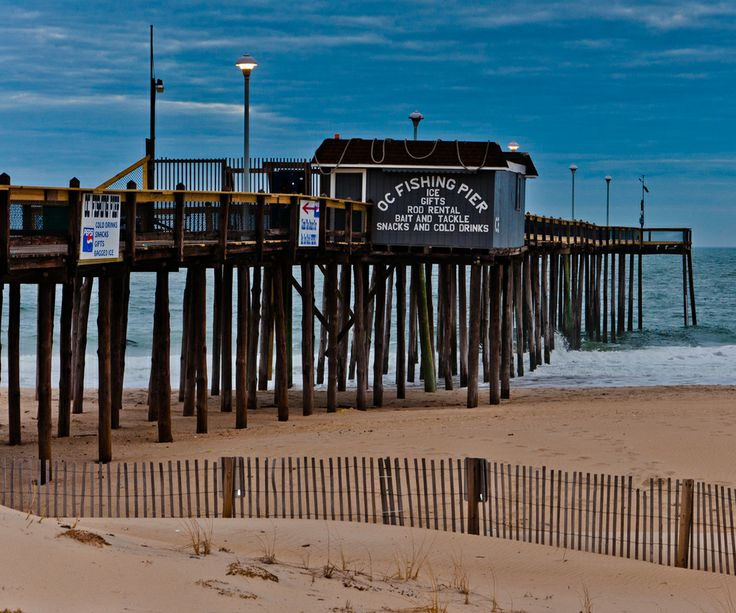 The fishing pier at ocean city maryland east coast for Ocean city md fishing