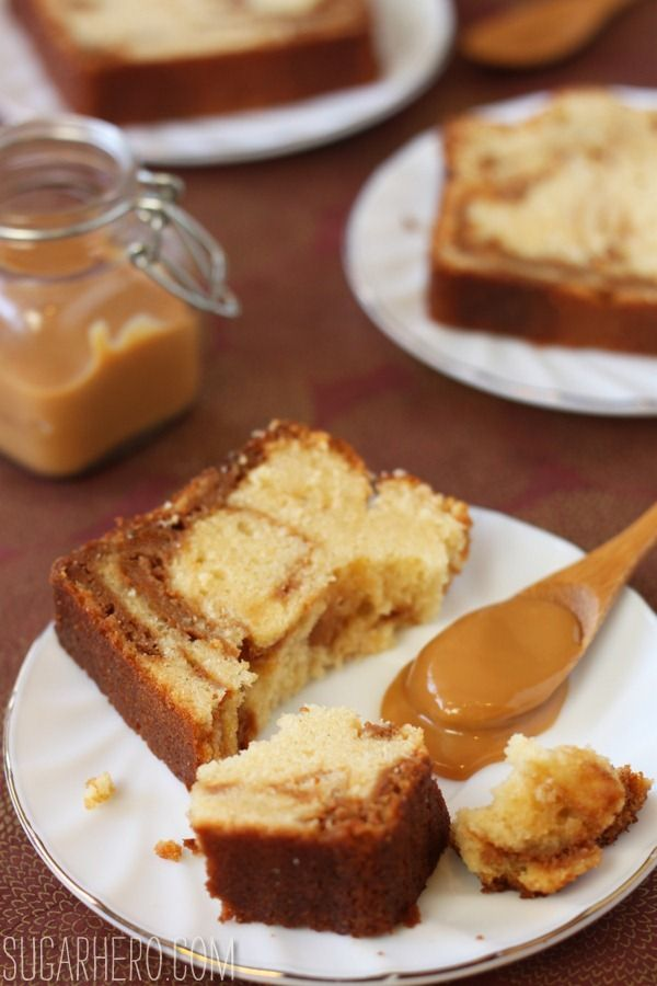 Dulce de Leche Swirl Pound Cake: amazing cake, so buttery and moist and the dulce de leche swirls takes it to another level of amazingness.. *****