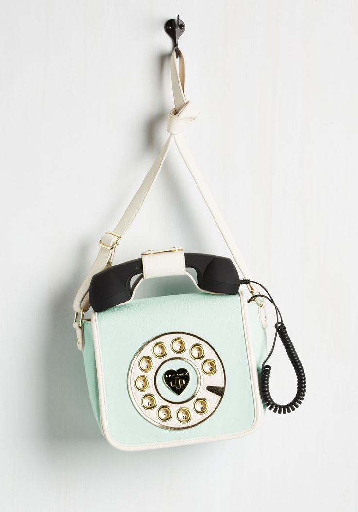 That's What I Call Style Bag in Mint. You give a new meaning to accessorizing with rings when you model this mint purse by Betsey Johnson! #multi #modcloth