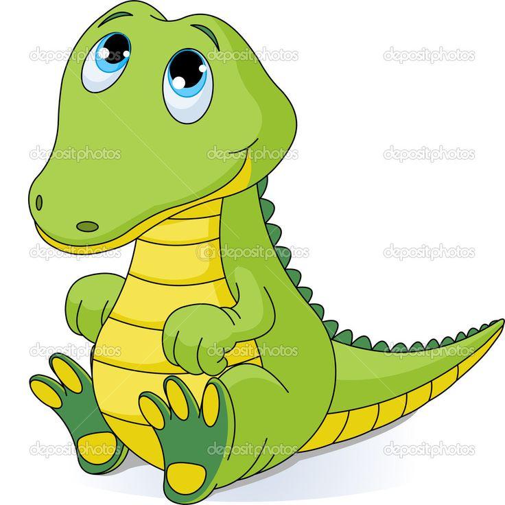Baby Alligator Clip Art | Baby crocodile — Stock Vector © Anna Velichkovsky #3487363