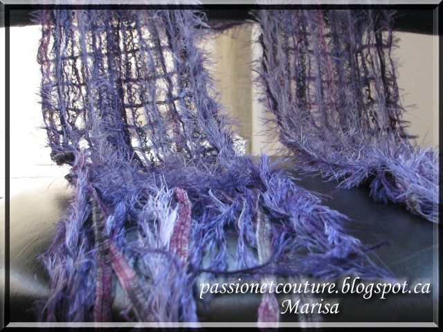 A close up view, Marisa from Passion et Couture.