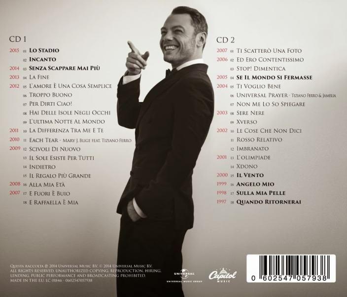The Best Of – Tiziano Ferro | Tracklist * http://voiceofsoul.it/the-best-of-tiziano-ferro/