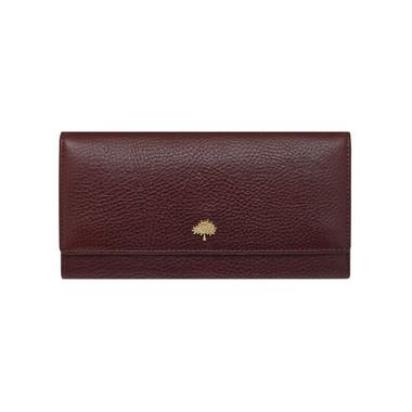Tree Continental Wallet in Oxblood Natural Leather | Continental Wallets | Mulberry