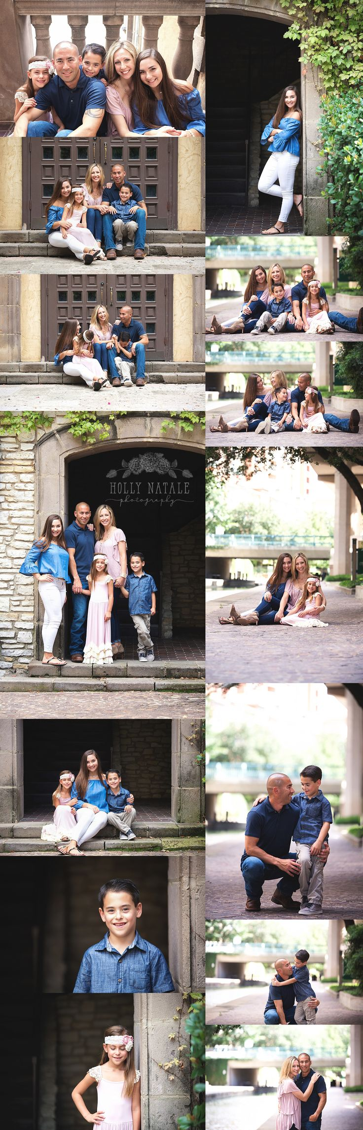 I've been photographing this sweet family for a few years now and I was so excited when Mom suggested the Las Colinas Canals for their session this year. I had never shot down there before but I had seen plenty of pictures from that spot and I was so excited to go down there. It did not disappoint…