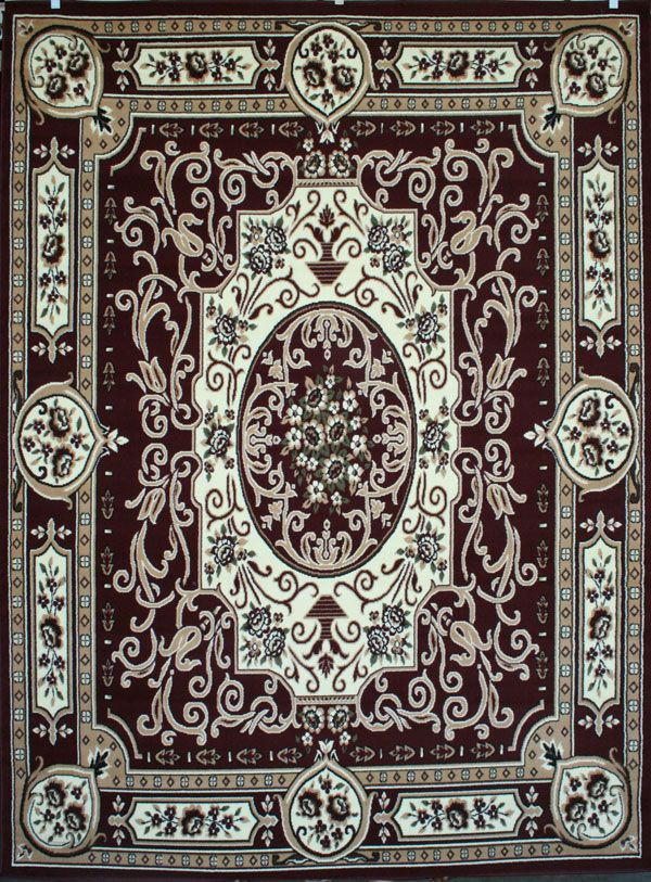 Lovely Burgundy Cheap 8x11 Rug   Discount Rugs USA 8011red