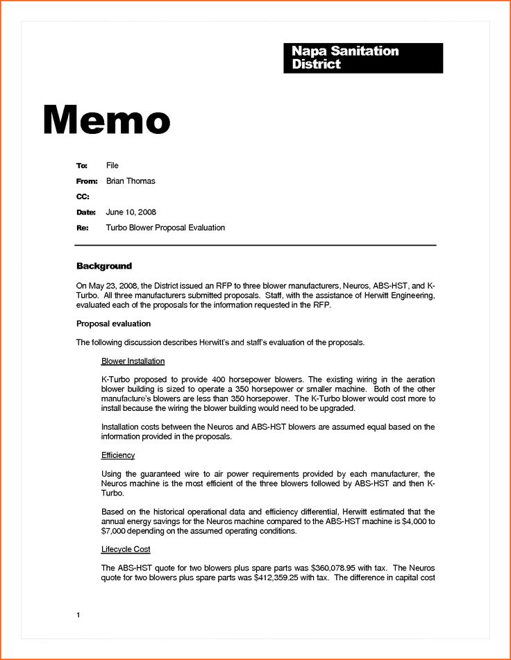 business memo example contract template sample memorandum