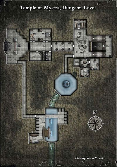 a temple map