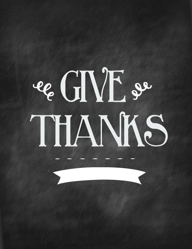 Thanksgiving Chalkboard Art.. Free Printable!