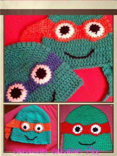 Cappellino tartaruga ninja uncinetto