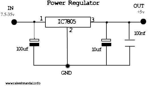 5v regulator circuit schematic electronics