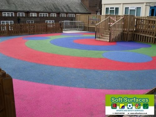 Play Safe Rubber Epdm Sbr Wet Pour Playground Safety Surfacing Floor Installa