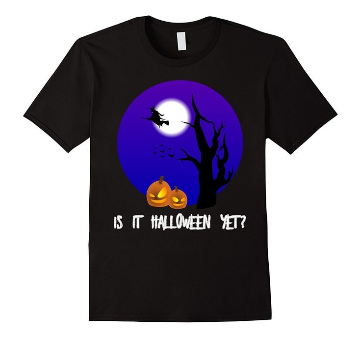 Is It Halloween Yet Witch Flying Broomstick Pumpkin T-Shirt